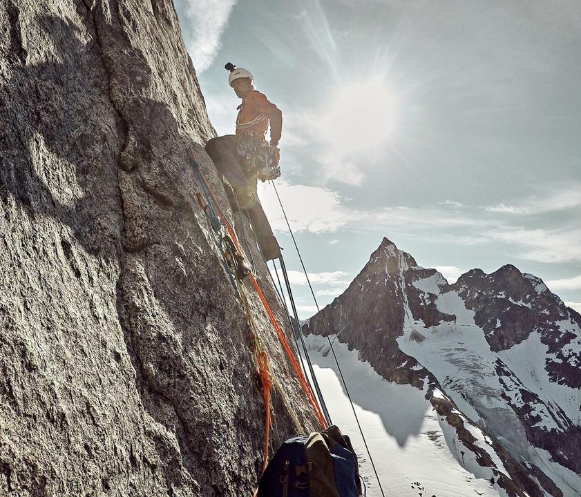 Allein auf Grönland: Robert Jasper ist Extrembergsteiger.   | Foto: Robert Jasper