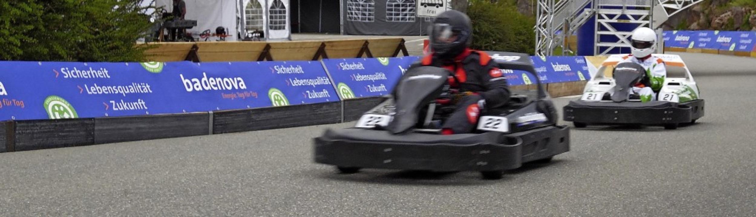 Knappe Rennen hätte das Publikum auf der Strecke verfolgen können.   | Foto: Silas Schwab