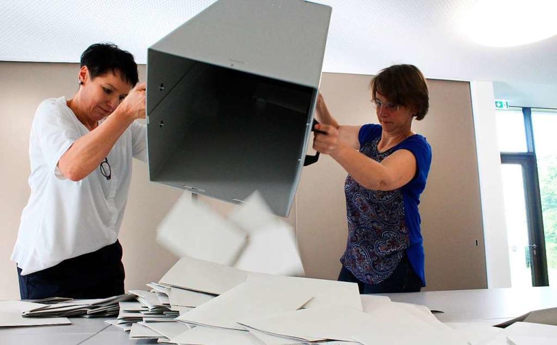 Am Ende waren es 322, 307 davon wählten nur das Europaparlament.  | Foto: Joshua Kocher