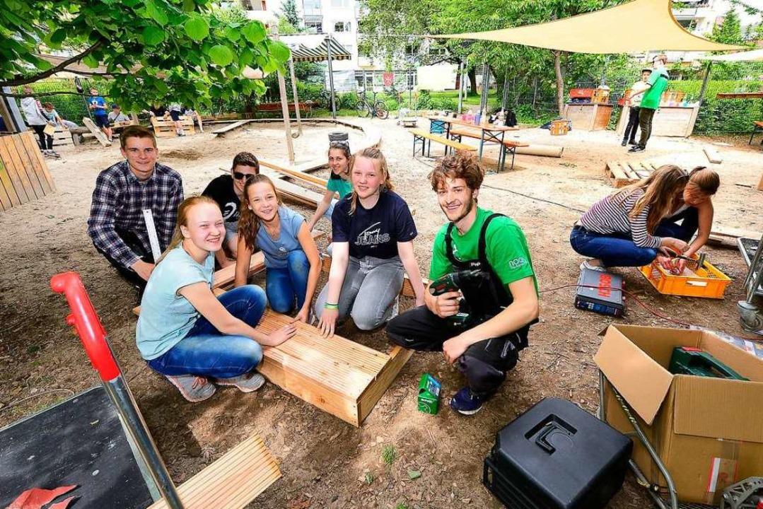 Die KJG Littenweiler erstellte bei der...lban-Stolz-Kindergartens in Zähringen.  | Foto: Ingo Schneider
