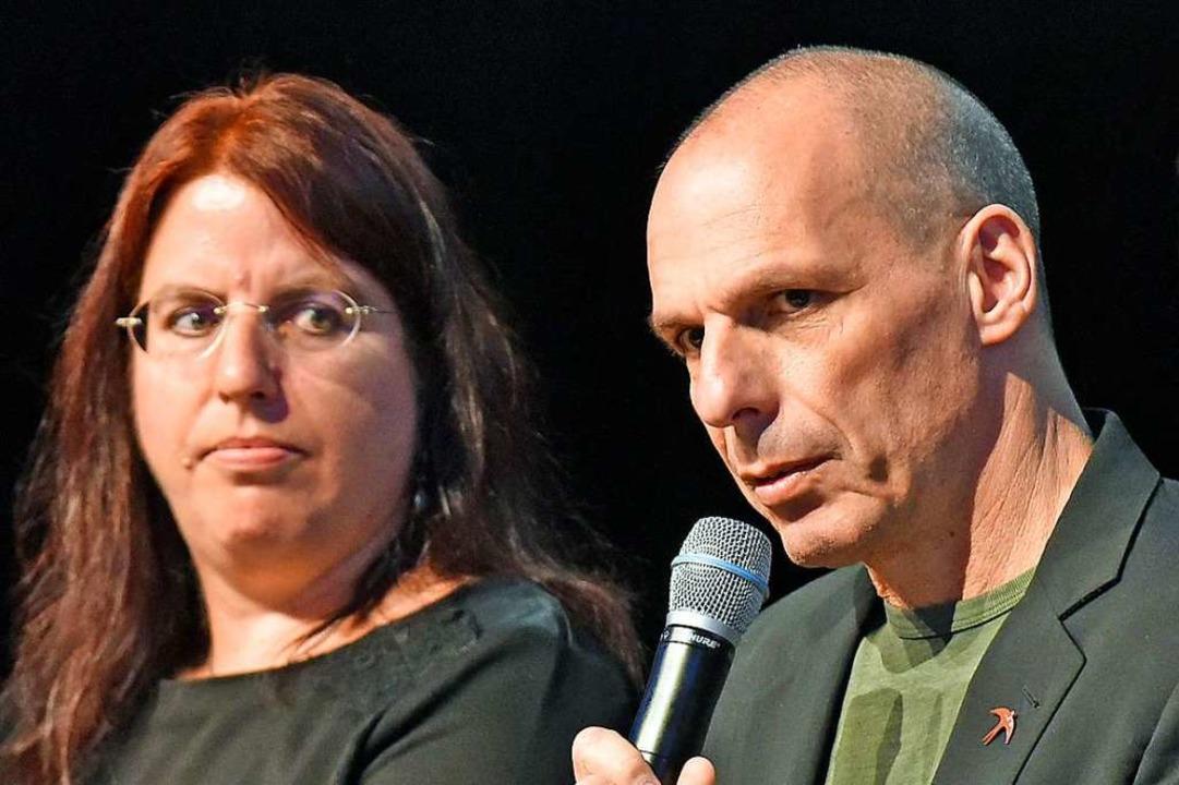 Auch DiEM 25, die Partei von Yanis Var...nd GAF-Spitzenkandidatin Monika Stein.  | Foto: Michael Bamberger