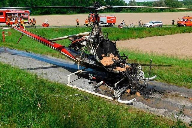 Helikopter der Mückenbekämpfer brennt aus - Schnakenplage droht