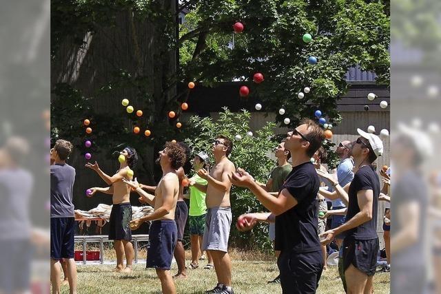 Jonglierfestival und Frisbee-Meisterschaft im Seepark