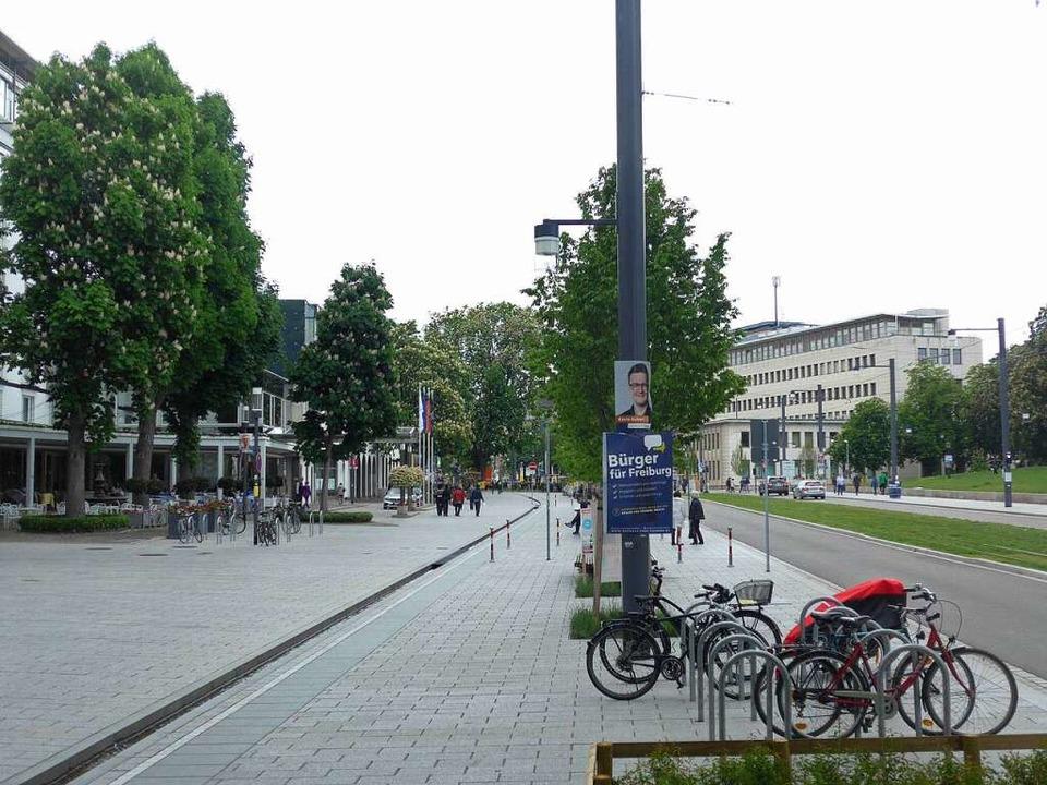 Der Weinbrunnen wurde um rund 80 Meter...rt befindet sich nun ein Laternenmast.  | Foto: Joachim Scheck