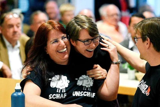 So reagieren Monika Stein und Sergio Schmidt auf ihren Wahlerfolg