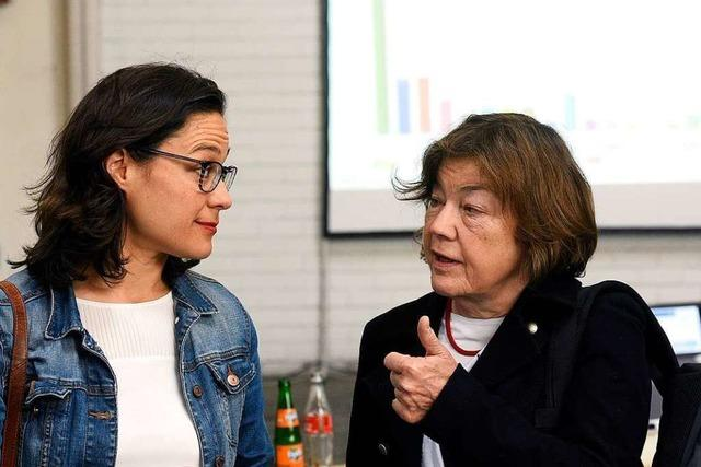 Stadträtin Nadyne Saint-Cast will
