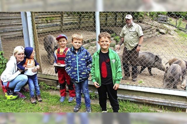 Tierisch guter Familientag im Wildgehege