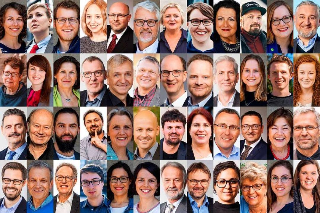 Ein Gemeinderat, 48 Köpfe: die Neuen und Wiedergewählten im Kommunalparlament  | Foto: BZ