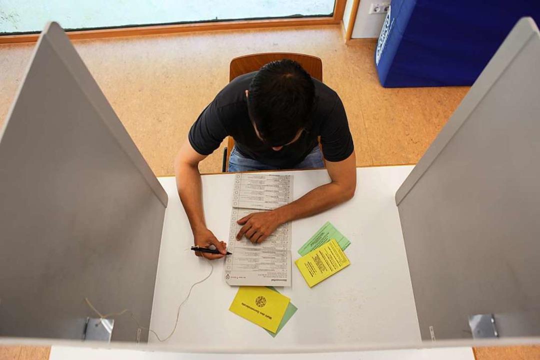 Viele junge Menschen sind in Lahr und dem Umland wählen gegangen.  | Foto: Bastian Bernhardt