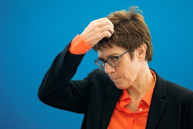 CDU-Chefin spricht von