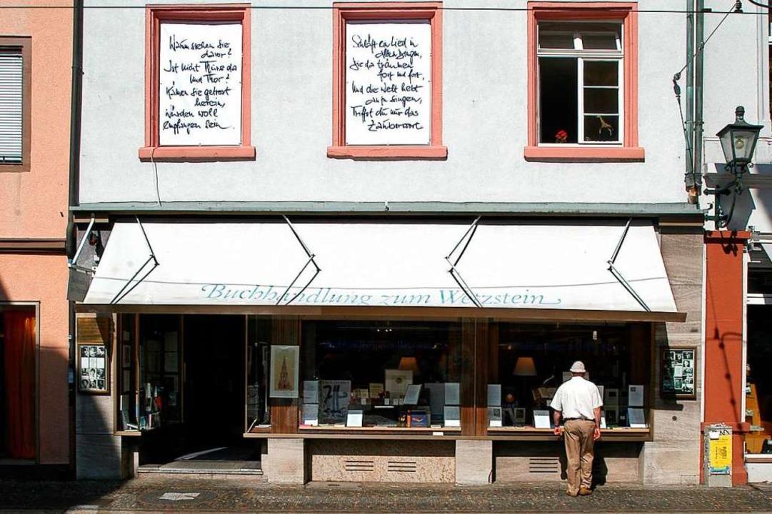 Die Buchhandlung zum Wetzstein in der Salzstraße (Archivbild)  | Foto: Ingo Schneider