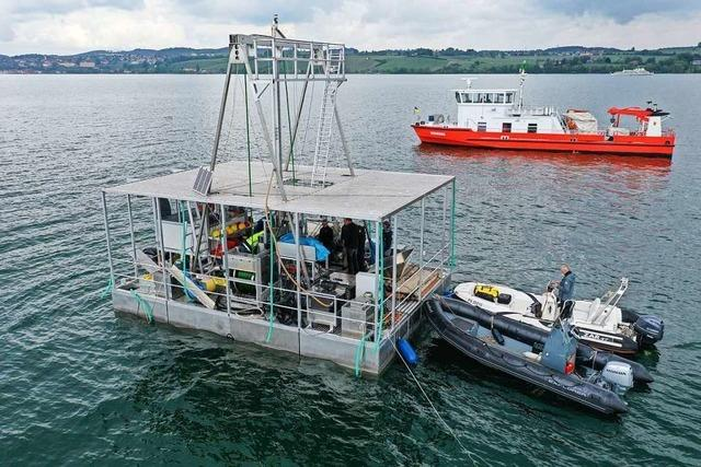 Forscher bohren 100 Meter tief in den Bodenseeboden