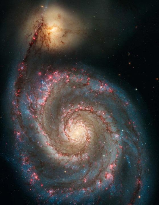 Ein Blick auf die Whirlpool-Galaxie  | Foto: NASA, ESA, S. Beckwith (STScI) and the Hubble Heritage Team (STScI/AURA)
