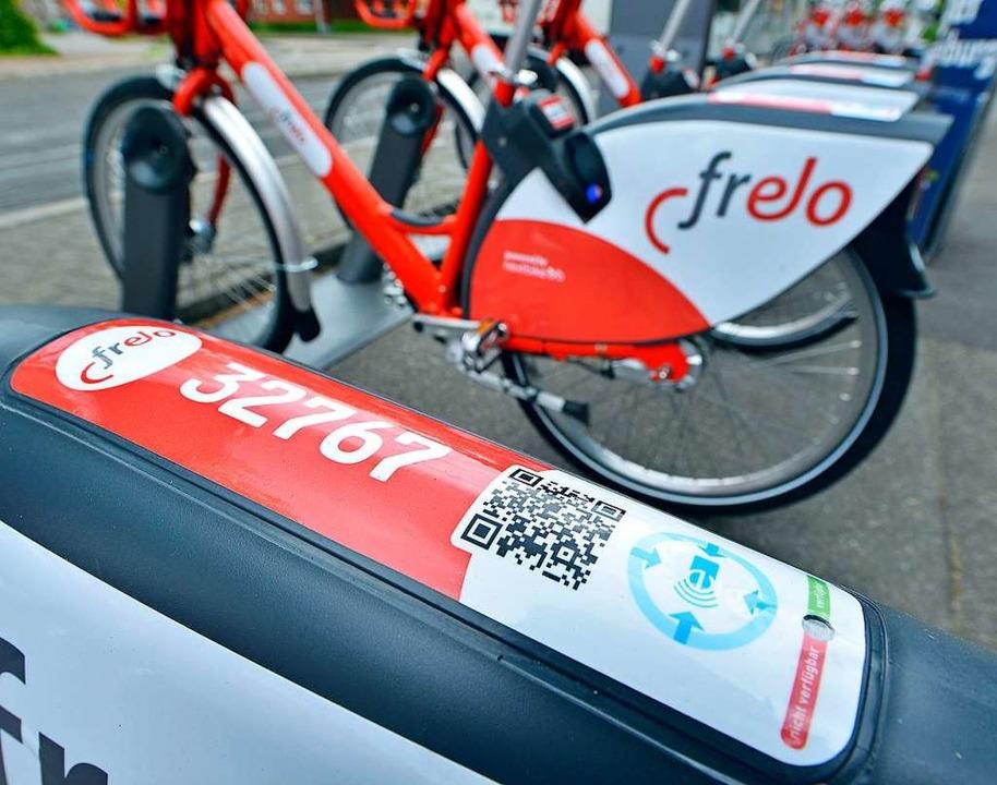 Freiburger Frelo-Leihräder dürfen nur ...er der Stationen zurückgegeben werden.  | Foto: Michael Bamberger
