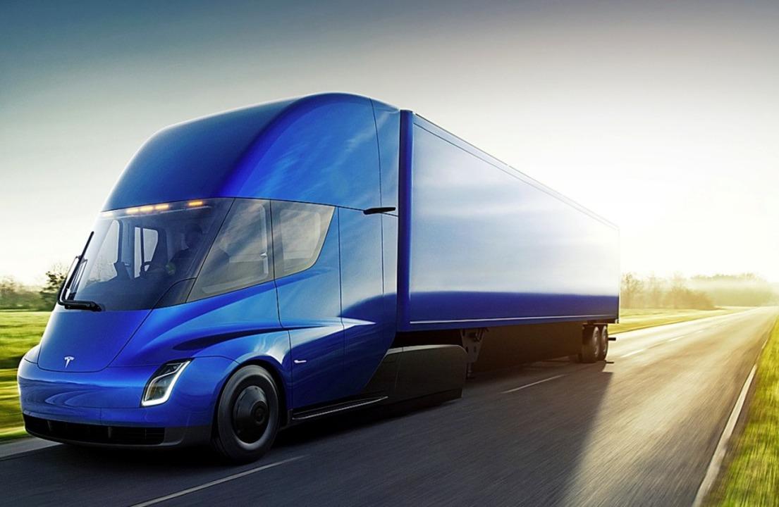 E-Truck Semi auf Batteriebasis  – bislang gibt es nur Prototypen.   | Foto: Tesla