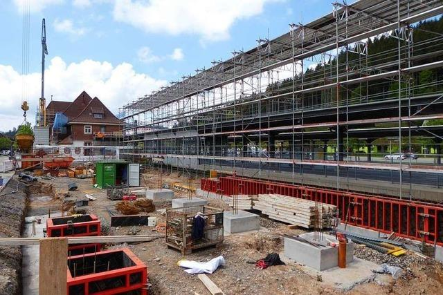 Umbau und Erweiterung des Titiseer Bahnhofs kommen gut voran