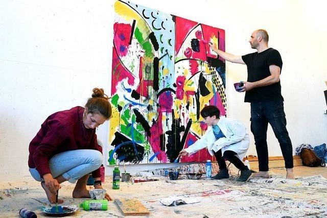 Im Kunstcamp in der Haslacher Straße können Jugendliche bis Sonntag in Ateliers kreativ sein