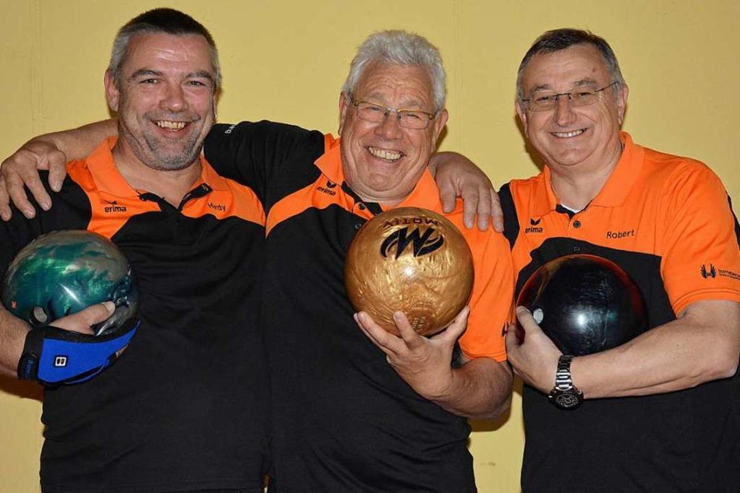 Hardy Bruhn, Michael Baur und Robert L...bei der DM im Trio-Wettbewerb dabei.    | Foto: Hannes Lauber