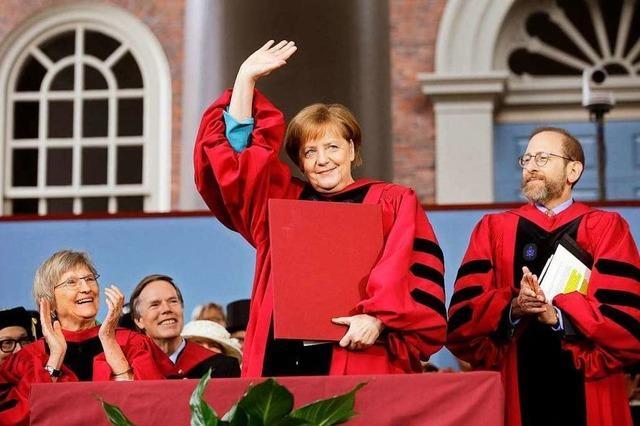 Harvard feiert Angela Merkel als Lichtfigur in dunkler Nacht
