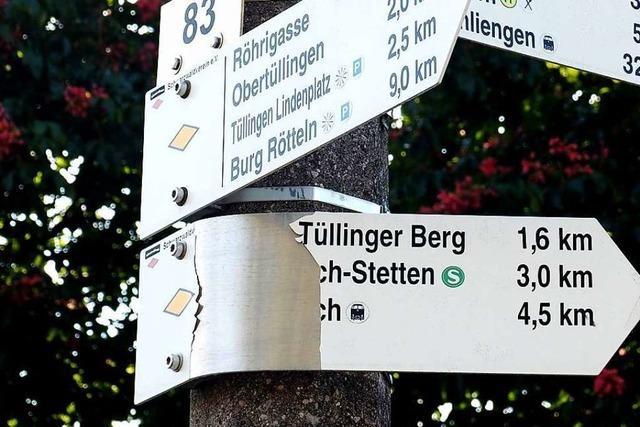 Schwarzwaldverein ärgert sich über verbogene Wanderschilder