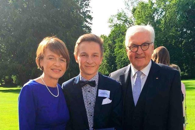 Junger Bahlinger trifft auf Bundespräsidenten – an seinem Geburtstag