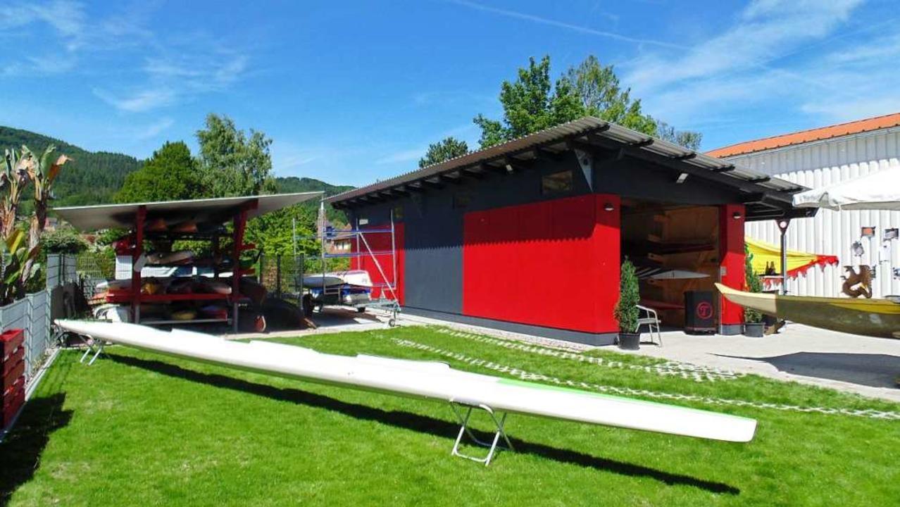 Das Vereinsgelände der Hochrhein-Paddler wurde in Eigenleistung neu gestaltet.   | Foto: Michael Gottstein