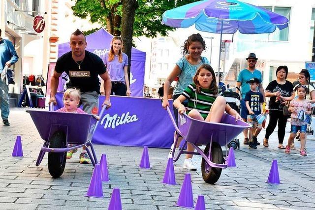 Rund 28.000 Besucher feierten in Lörrach beim Milka-Fest mit