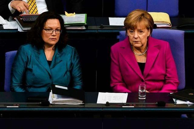 Nach dem Nahles-Abgang geht's um die Große Koalition