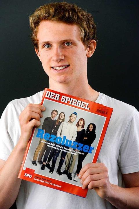 Simon Sumbert ist Freiburgs jüngster N...dem Titelseite des aktuellen Spiegels.    Foto: Thomas Kunz