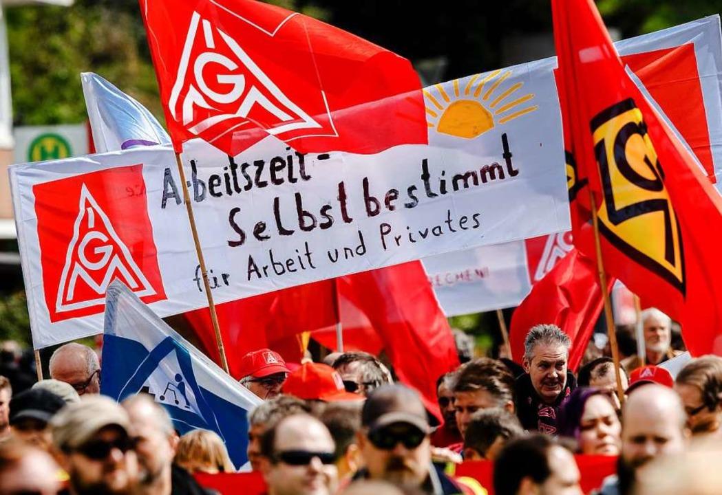 Die IG Metall streikt an diesem Dienstag in Freiburg. (Symbolbild)  | Foto: Markus Scholz