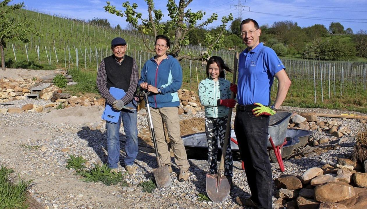 Sie gehörten zu den Helfern des Nabu, ...el, Lena und ihr Vater Stefan Kaiser.   | Foto: Victoria Langelott