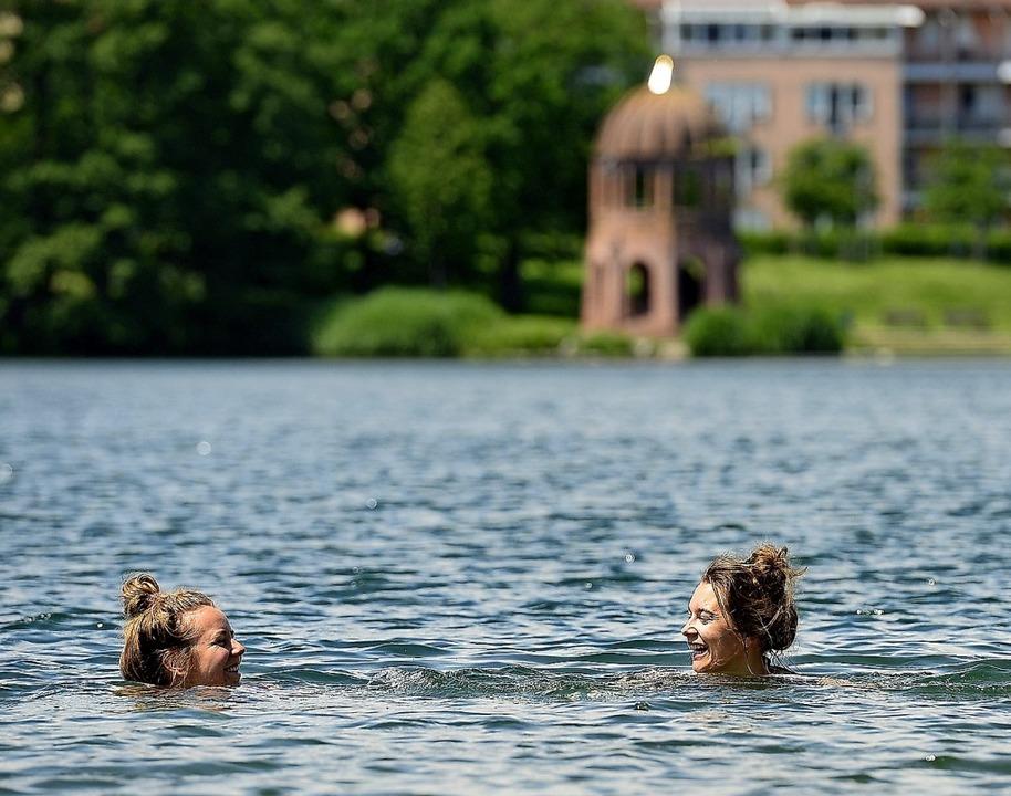 Unbedenklich ist das Baden im Flückigersee.  | Foto: Ingo Schneider