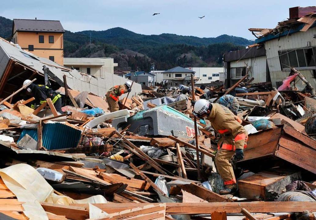 Verwüstung in der japanischen Stadt Kesennuma nach einem Tsunami.  | Foto: KIM JAE-HWAN