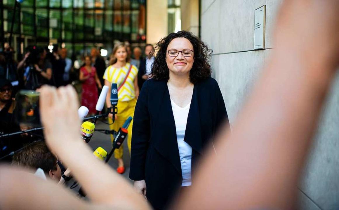 Andrea Nahles war die Vorsitzende der SPD.     Foto: Bernd von Jutrczenka (dpa)