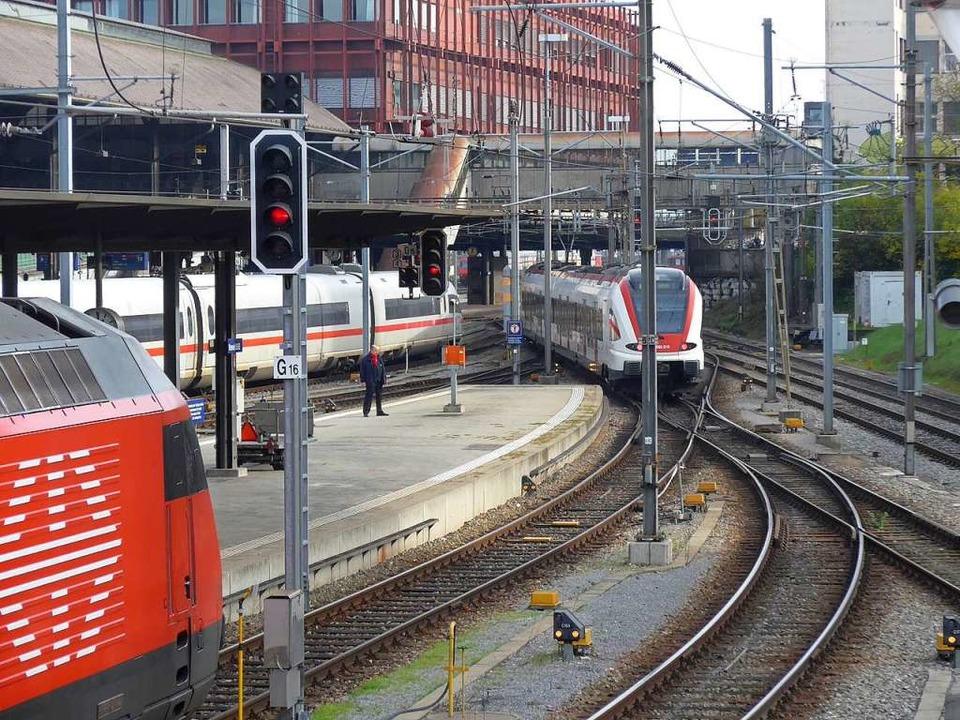 Das Herzstück soll solche Situationen im Bahnhof SBB entflechten  | Foto: Daniel Gramespacher