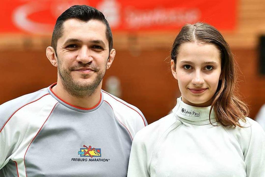 Der Waldkircher Vereinstrainer Andy La...e Hoffnungsträgerin Philine Kaltenbach  | Foto: Achim Keller