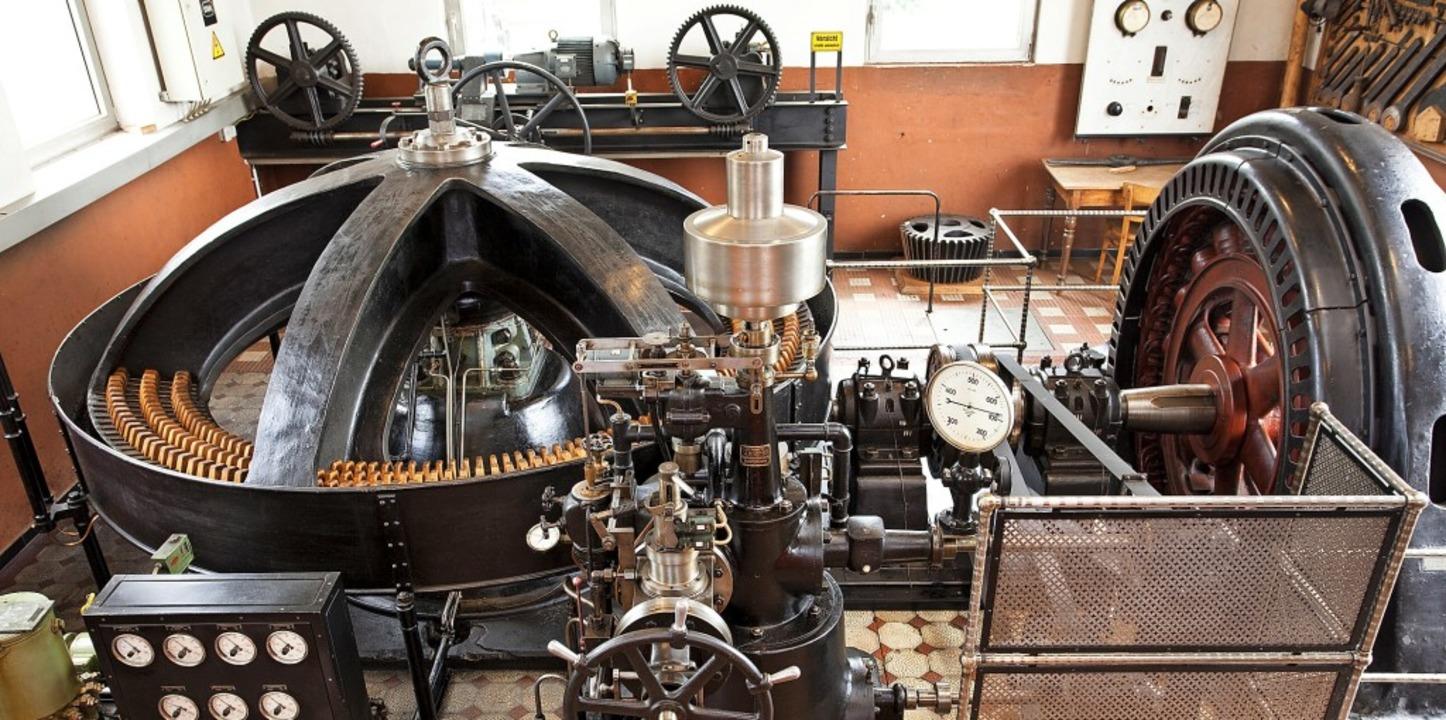 Seit 1905 ist die Francisturbine in Be...e Leistung ins Stromnetz eingespeist.   | Foto: Werner Schnabl