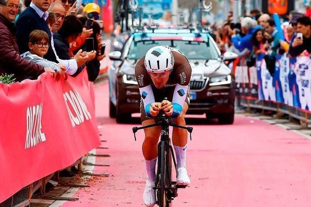 Nico Denz aus Albbruck weiß, wie man den Giro trotz Bronchitis zu Ende fährt