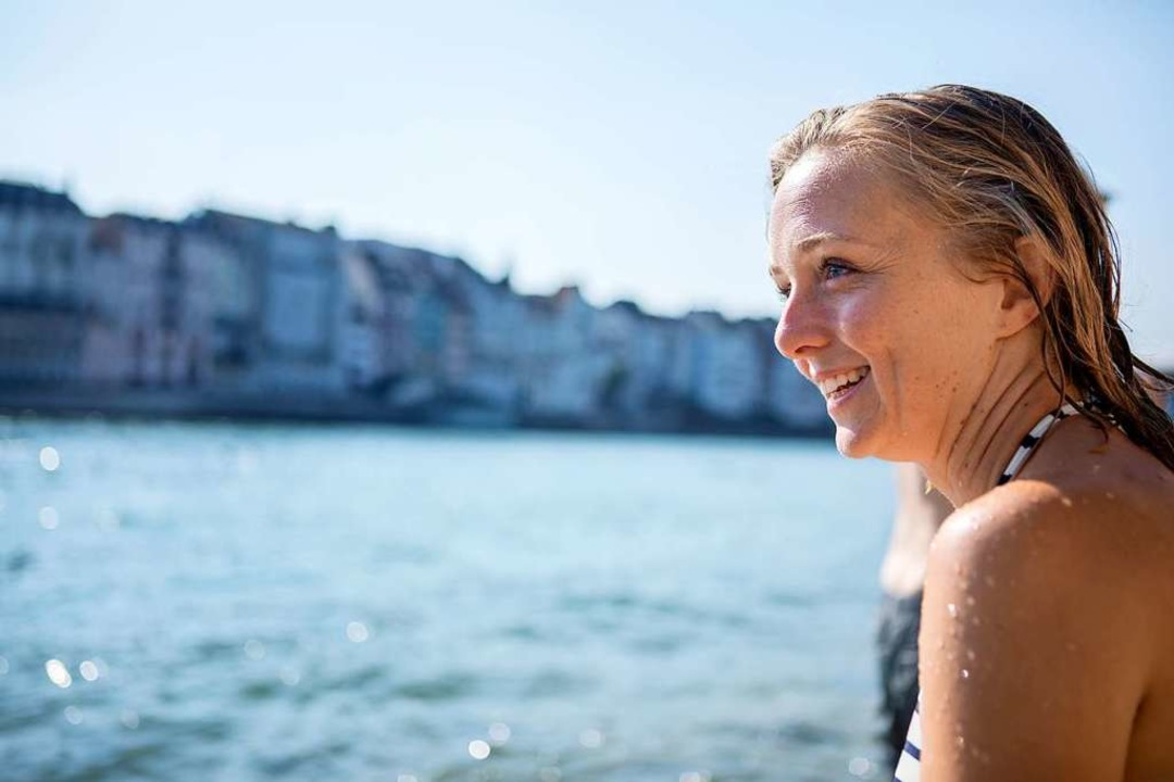 Bianca Fritz lebt in Basel – und...einserie dort in den Fluss gestiegen.   | Foto: Joss Andres