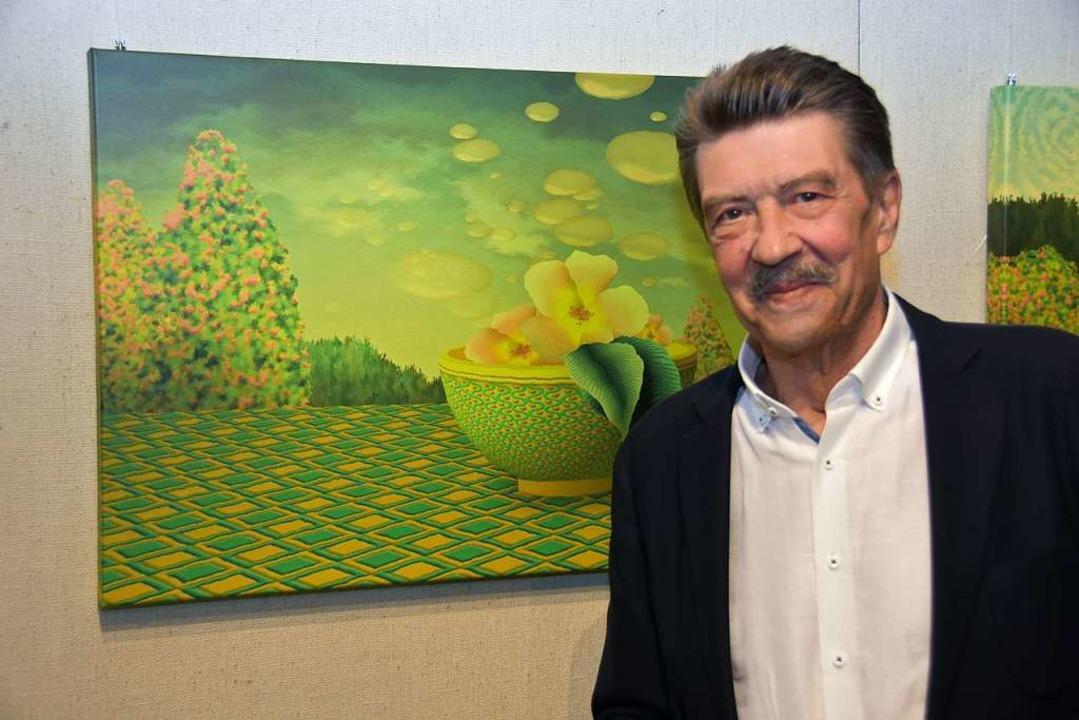 Stephan Birkenmayer ist Rechtsanwalt u... selbst seine künstlerische Tätigkeit.  | Foto: Andrea Steinhart