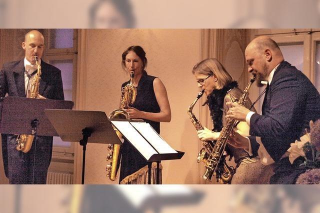 Saxophonquartett sorgt für einen Heidenspaß
