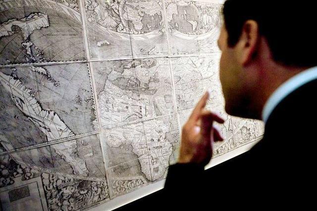 Sollte die Waldseemüller-Weltkarte womöglich Spanier täuschen?