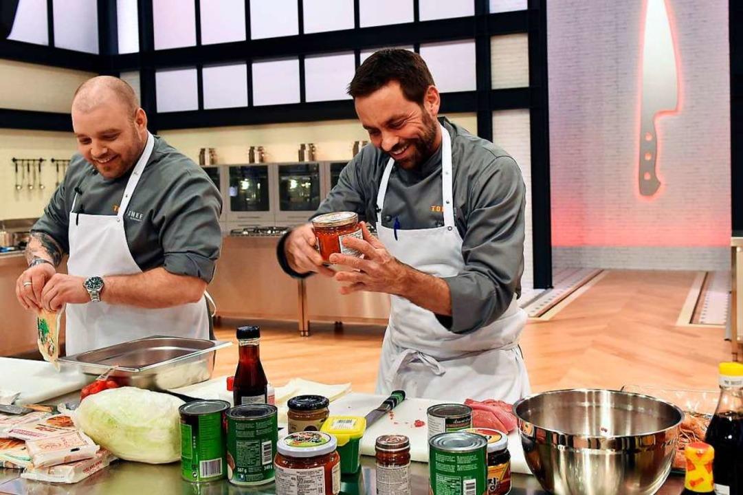 """Szene aus """"Top Chef Germany"""" mit Steffen Disch (rechts)    Foto: Andre Kowalski"""