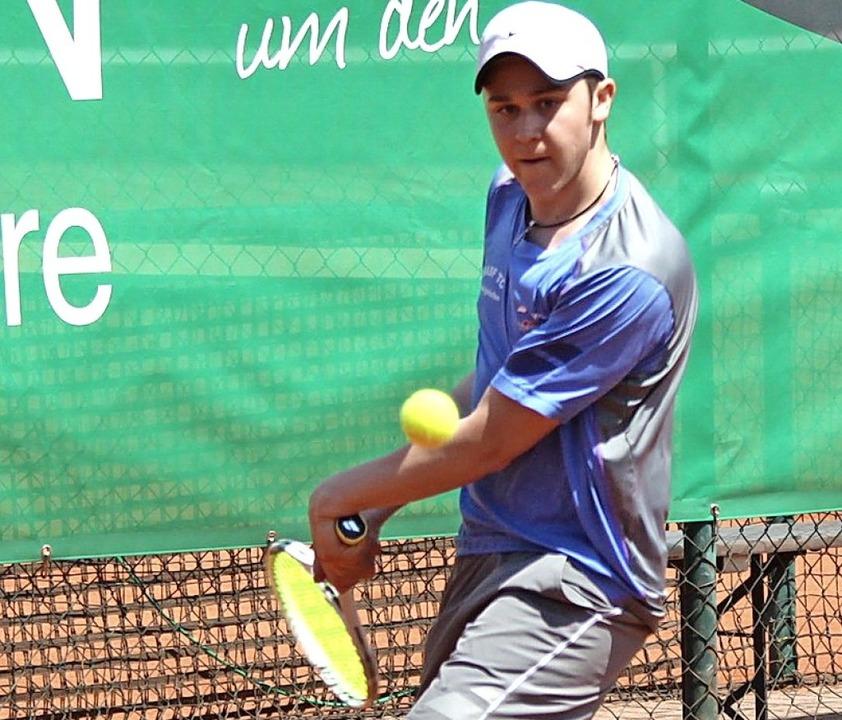 Maximilian Becker aus Ludwigshafen, Sieger des vergangenen Jahres bei der U21.     Foto: Adelbert Mutz