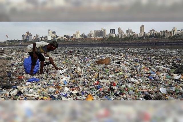 Plastik landet oft in Indien