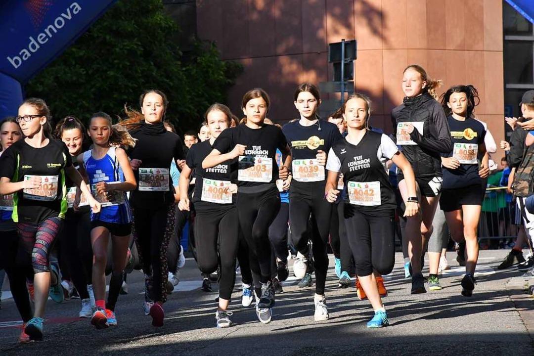 Los geht's: Für sportliche Jugendliche ist der Stadtlauf eine coole Sache.    Foto: Barbara Ruda