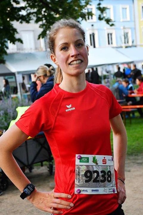 Siegerin Michaela Gertis von der LG Hohenfeld    Foto: Barbara Ruda