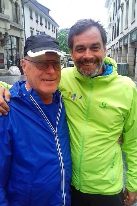 Senior- und Junior-Streckenchef beim S...-Werner Frank (links) und Jochen Cerff    Foto: Peter Gerigk