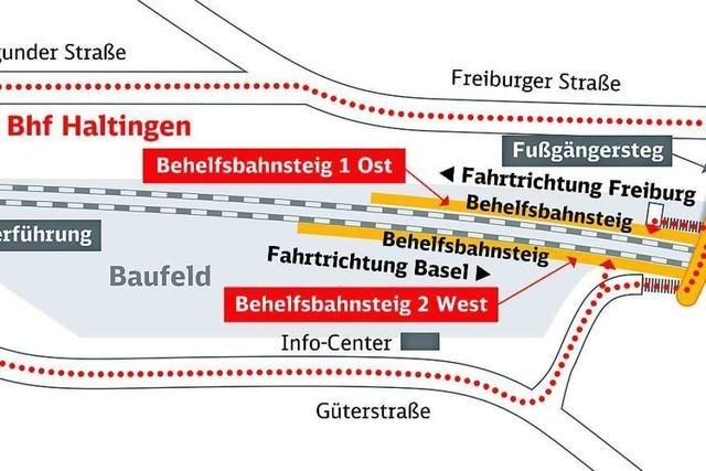 An den Bahnhöfen in Weil und Haltingen gibt es ab August Einschränkungen