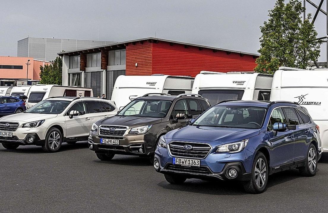 Carvan-Urlauber sollten das geänderte ...s Gespanns berücksichtigenFoto: Subaru  | Foto: Subaru/SP-X